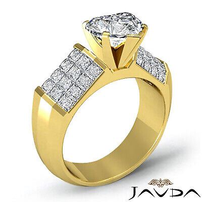Heart Cut Diamond Engagement Prong Invisible Setting Ring GIA I Color SI1 2.2Ct 6