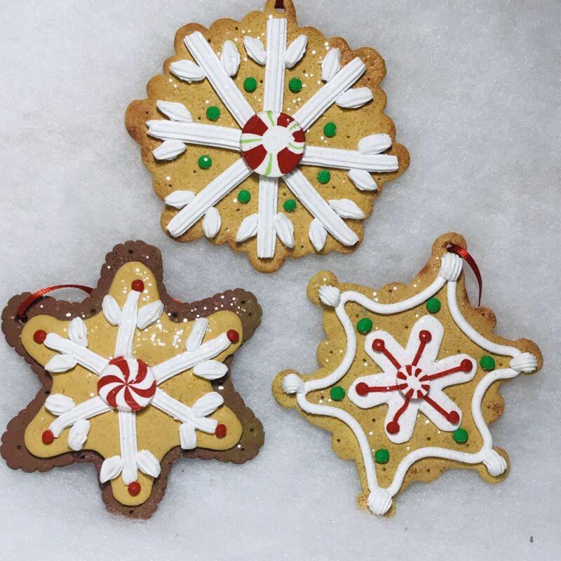 Gingerbread Cookie Snowflake Cookie Christmas tree Ornaments
