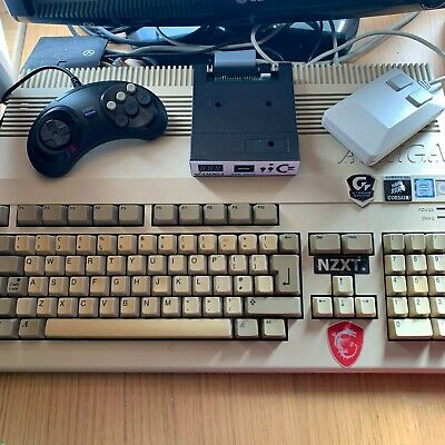 Commodore Amiga 500 with AMOS game creation kit + USB Gotek drive + Games