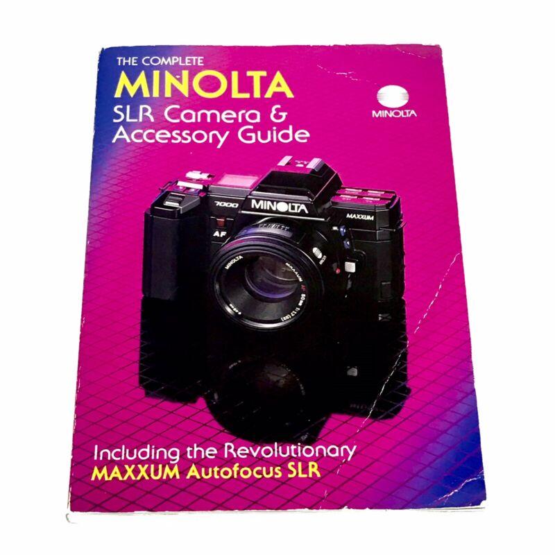 The Complete Minolta SLR Camera and Accessory Guide
