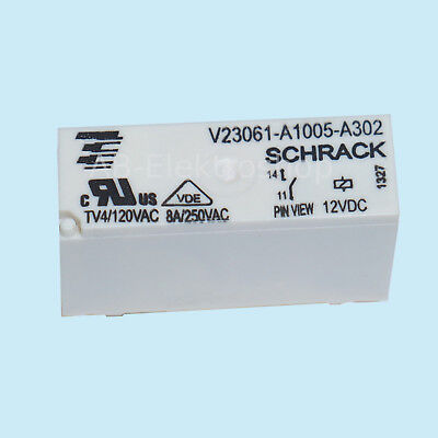 12V 24V Miniatur Relais Schrack Siemens, Schaltrelais Printrelais Platinenrelais 24v Relais