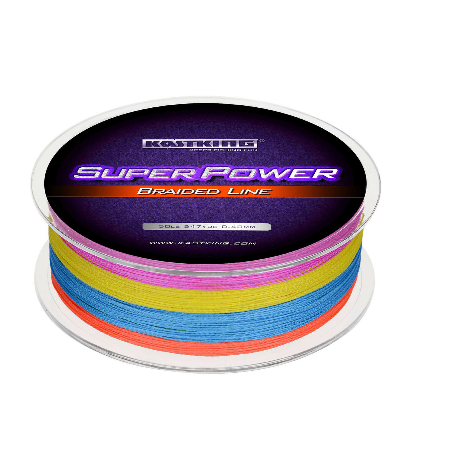KASTKING SUPERPOWER BRAIDED FISHING LINE – INCREDIBLE SUPERLINE Multicolor