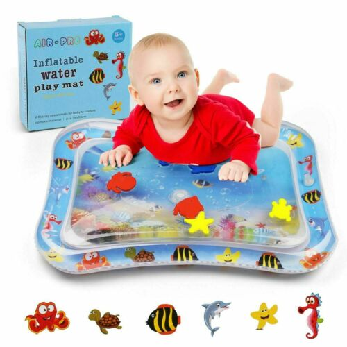 Baby Tummy Time Playmat Inflatable Water Mat Infant Toddler Activity Play Center