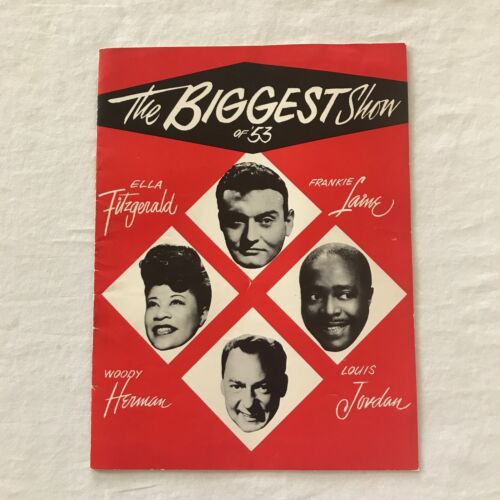 The Biggest Show of 53 Program Ella Fitzgerald Frankie Laine Woody Herman Music