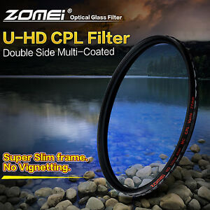 ZOMEI 55mm Slim U-HD MC-CPL Circular Polarizing Filter for Canon DSLR Camera Len