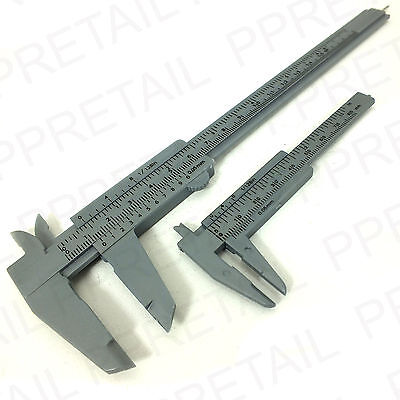 "2Pc PLASTIC VERNIER CALIPER Diameter Measuring Gauge Small 3""/Large 6"" Tool NEW"