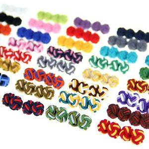 Lot-of-5-Pairs-Balls-Cufflinks-Cuff-Links-Silk-Knot-Wedding-Party-Shirt-CSP1