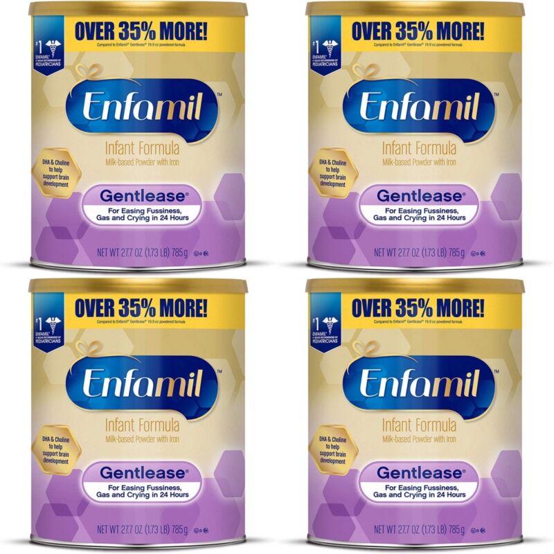 (4) Enfamil Gentlease Infant Formula- 27.7oz cans (Amazon price $130)