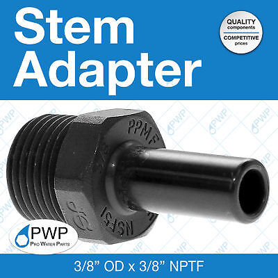 John Guest Stem Adapter Push-to-connect 38 Od X 38 Nptf 10 Pack