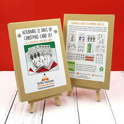 Alternate 12 Days of Christmas Card Set - Funny Christmas Card Pack - Carol Card ()