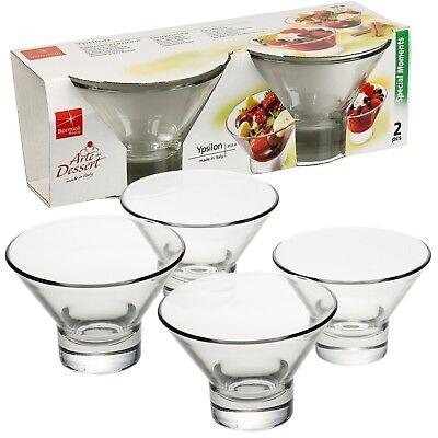 Bormioli Rocco Ypsilon Ice Cream Sundae Dessert Glasses Appetizer Cocktail (Bormioli Rocco Dessert Dishes)