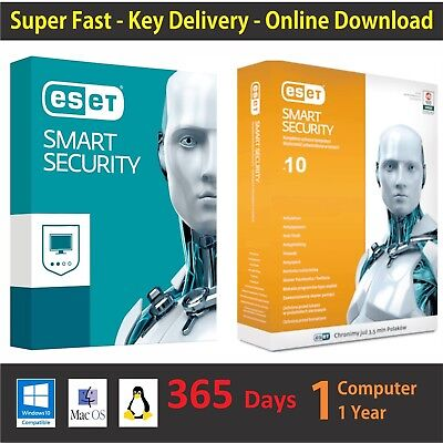 Eset Smart Security Antivirus   Global Key Till 2019   01 Pc 1 Year  365 Days
