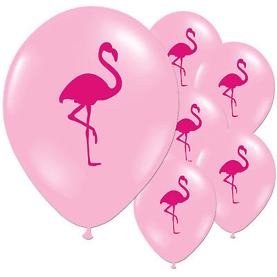 Tropical Hawaiian Pink Flamingo Summer Children's Birthday Party Latex Balloons