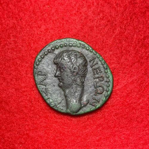 Nero AE24 of Macedonia, Koinon. Thessalonica Mint. c 55 AD.