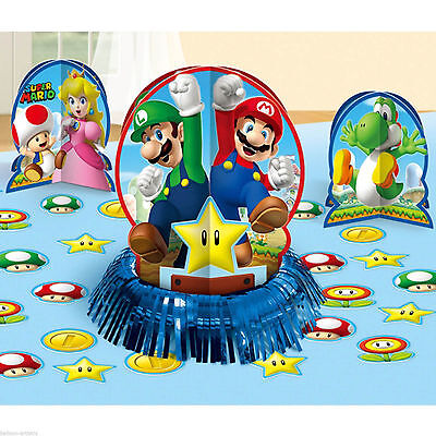 Super Mario Brothers Table Decoration Kit Birthday Party Supplies Center Piece - Mario Brothers Decorations