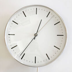 RARE Mid Century Modern CITY HALL WALL CLOCK by ARNE JACOBSEN for GEFA, 1956