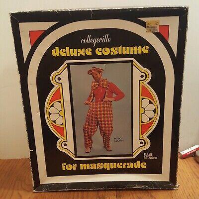 VTG Collegeville Deluxe Costume - Hobo Clown Halloween , masquerade Adult 38-40
