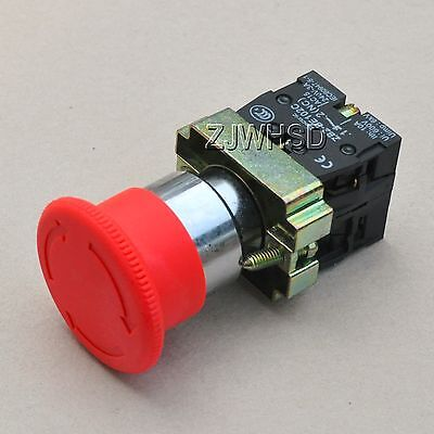 Heavy Duty 660v Red Sign Emergency Stop Push Button Switch Nc No Contact Block