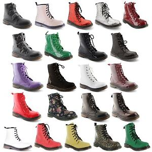 Ladies-Womens-Ankle-Retro-Combat-Lace-Funky-Vintage-Goth-Boots-Shoes-Size-3-8