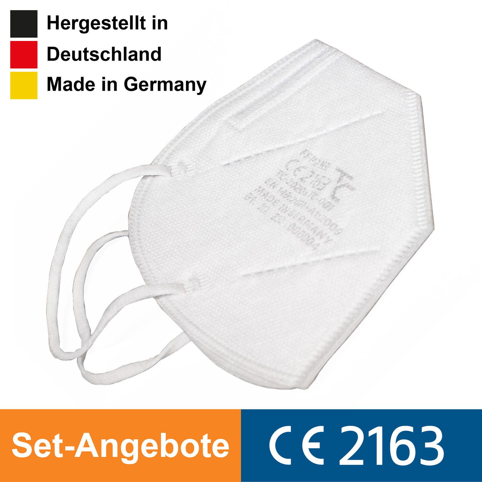 FFP2 Maske deutsche Herstellung Atemschutzmaske Mundschutz zertifiziert CE 2163