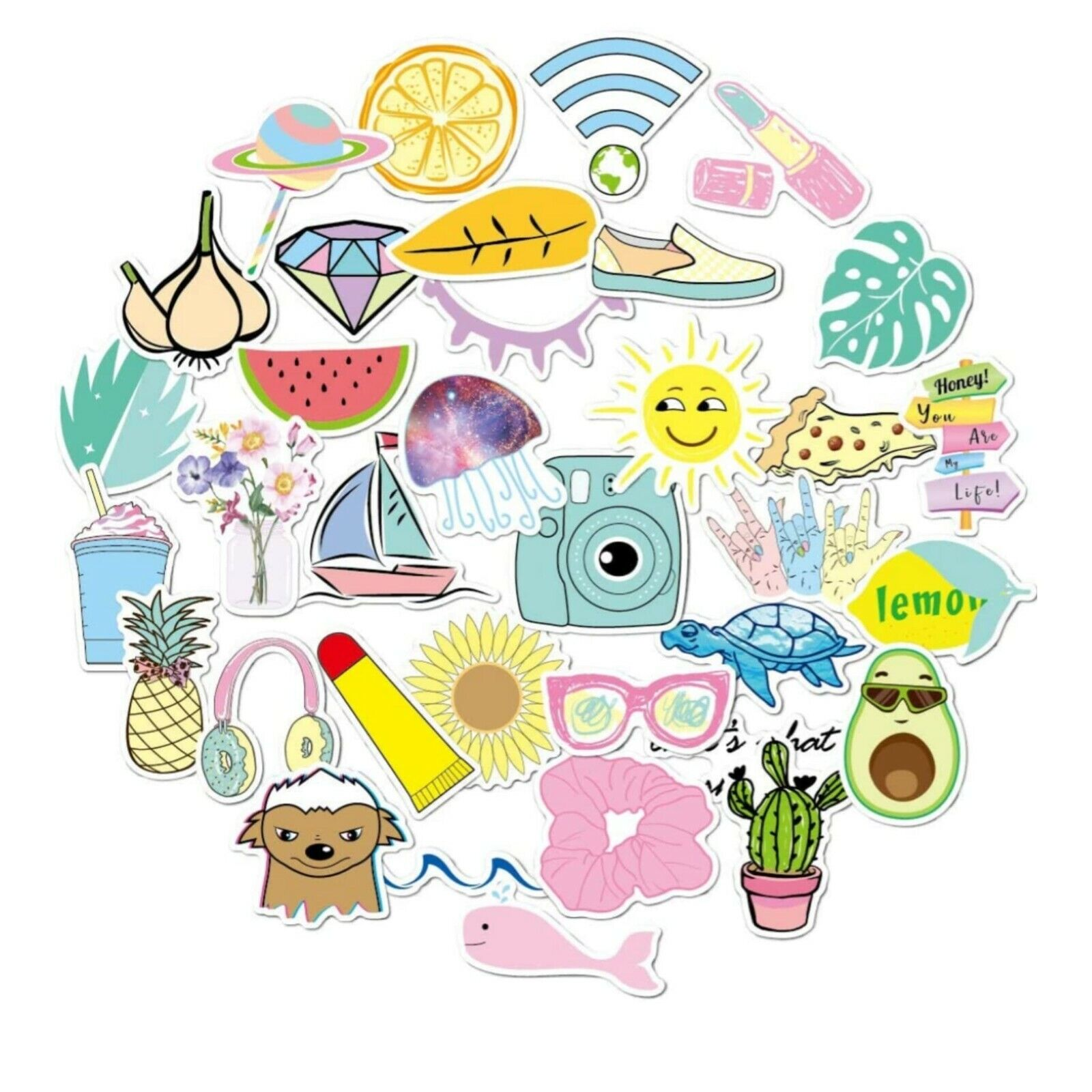 girls stickers for water bottles big 35
