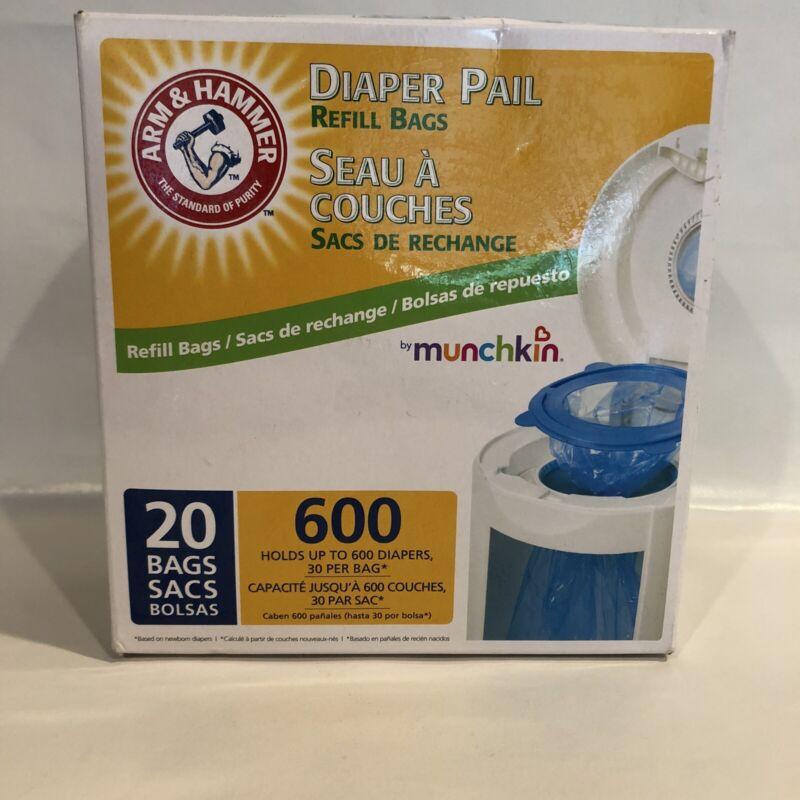 Munchkin Arm & Hammer Diaper Pail Refill Bags - 20-Count