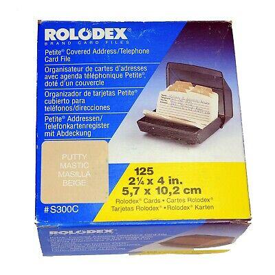 Vtg. NIB Rolodex S300C Petite Covered Address Telephone Card File Made in USA comprar usado  Enviando para Brazil