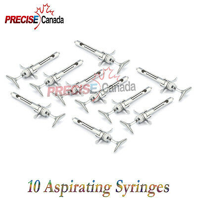 Dental Aspirating Syringes Lot Of 10 Pcs Dental Instruments