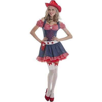 Cowgirl Costumes For Women (western Miss Rodeo COWGIRL womens LARGE 12-14 Costume dress sequin cowboy)