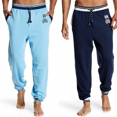 Psycho Bunny Men's Lounge French Terry Jogger Pants  - Bunny French