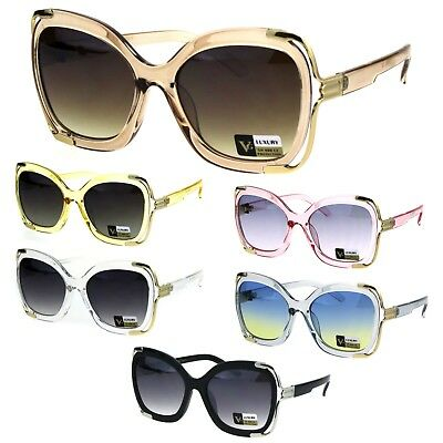 Womens Luxury Plastic Butterfly Ornate Metal Hinge Designer (Luxury Designer Sunglasses)