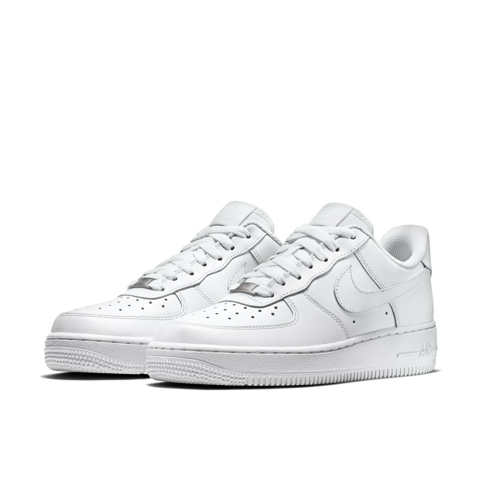 Nike Womens Wmns Air Force 1 07 Low Whiteout Classic Triple White AF1  315115-112 8a39bc2e4