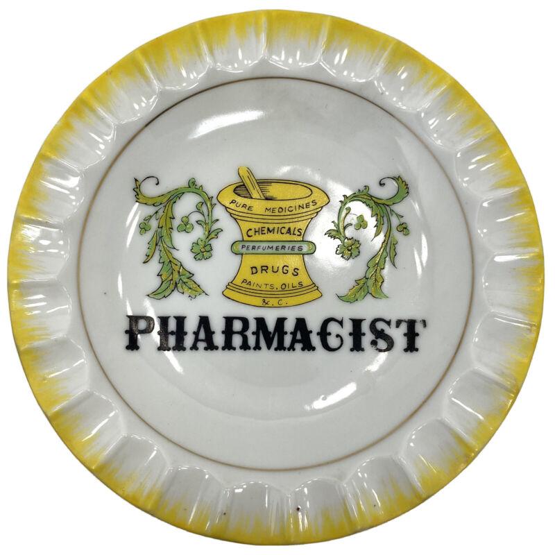"Vtg PHARMACIST Pharmacy Profession DRUGSTORE Symbol TRINKET DISH 6"" Plate"