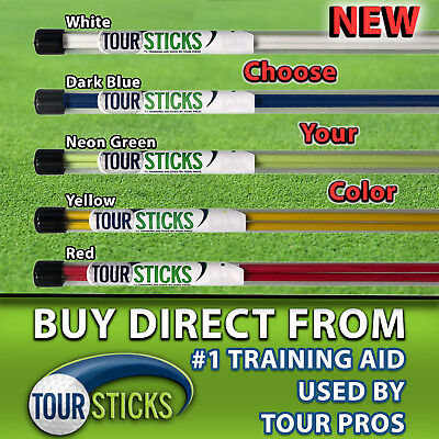 (2Pcs Golf Alignment Sticks Swing Tour Trainer Rod Ball Striking Aid Practice)