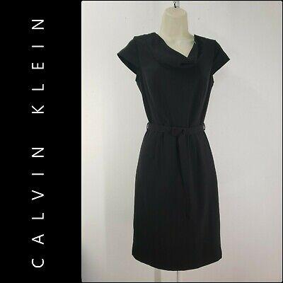 Calvin Klein Woman Career Formal Sheath Stretch Dress Size 2 Black