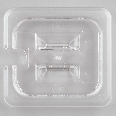 12 Pack 16 Size Spoon Food Pan Lid Clear Plastic Steam Prep Table Polycarbonate