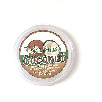 (Lip Care Balm Thai Coconut Oil Natural Cold pressed Lip Moisturizer Balm 10g)