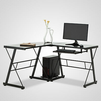 l shaped glass desk for sale  USA