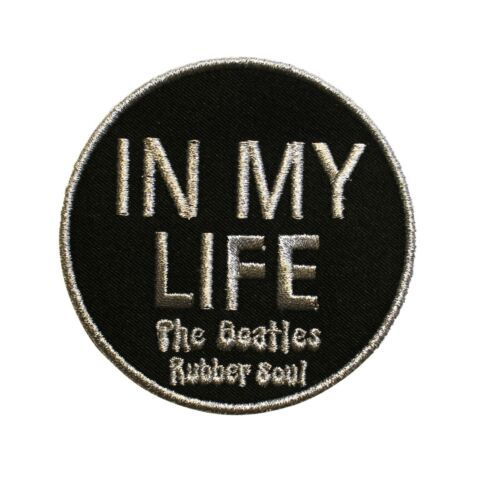 The Beatles In My Life Rubber Soul Embroidered Sew On Patch - 075-G