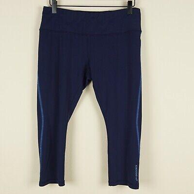Brooks Go To Navy Blue Capri Running Athletic Work Out Legging Pants Womens Sz L