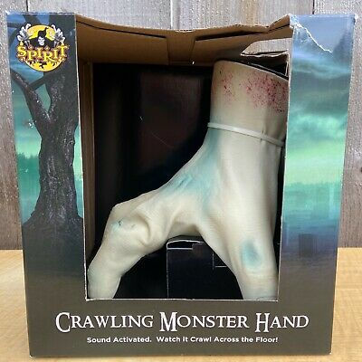 "Spirit Halloween Animated 6.5"" Crawling Monster Hand *NEW* - Gemmy 2013-20"