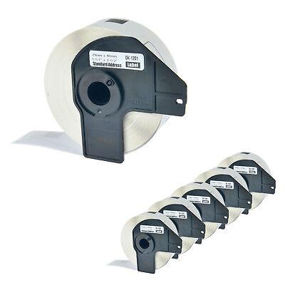 6 Roll Dk1201 White Address Labels 400 Labels For Brother Ql-650td W6 Frame