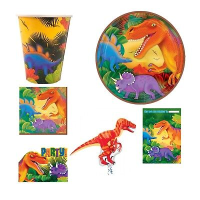 Prehistoric Dinosaur Range Tableware Birthday Decorations Party Supplies Set - Prehistoric Party Supplies