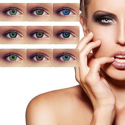 Farbige Kontaktlinsen ohne Stärke blaue grüne graue braune violette Farblinsen