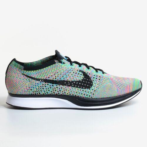 huge selection of 2cad5 9ccae Nike Flyknit Racer Multicolor 2.0 Green Strike 2017 Black Running Ds 526628- 304. Nike. Flyknit Racer