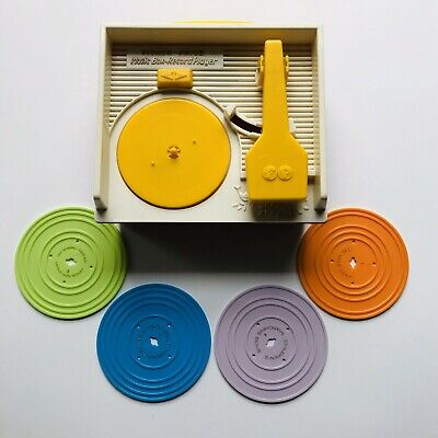 FISHER PRICE RECORD PLAYER Music Box - w/ Records - Classic Vintage
