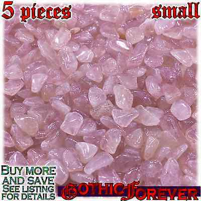 - 5 Small 10mm Combo Ship Tumbled Gem Stone Crystal Natural - Aventurine Red