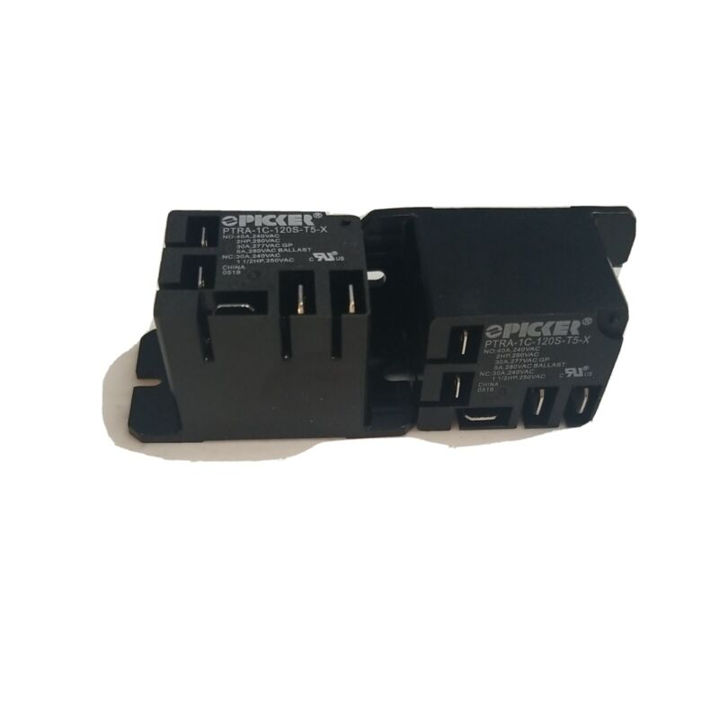 (x2) PTRA-1C-120S-T5-X-2 | SPDT 120 VAC Coil, 40 Amp 120 VAC UL Rated,