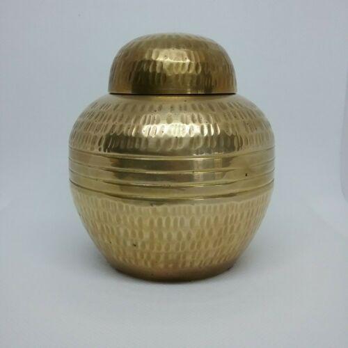 Brass Ginger Jar with Lid Vintage Vase Handcrafted  Made In India