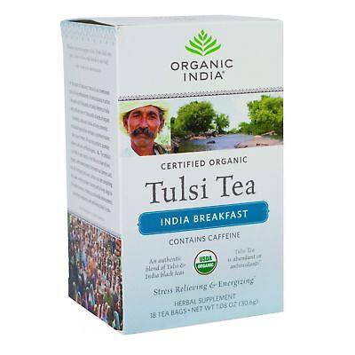 Tulsi Tea India Breakfast (Organic India Tulsi India Breakfast Tea, 18)